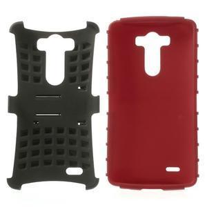 Outdoor odolný obal na mobil LG G3 - červený - 3