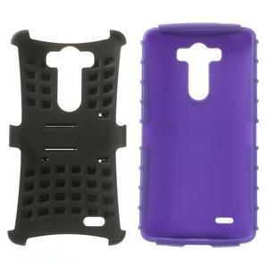 Outdoor odolný obal na mobil LG G3 - fialový - 3