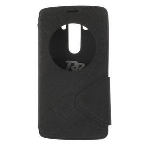 Diary pouzdro s okýnkem na mobil LG G3 - černé - 3