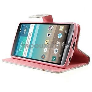 Zapínací peněženkové pouzdro pro LG G3 s - láska - 3
