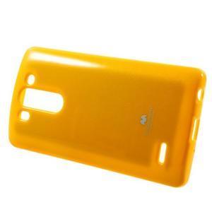 Odolný gelový obal na LG G3 s - oranžový - 3