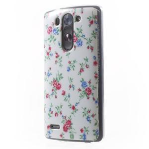 Gelový obal na LG G3 s - kytičky - 3