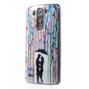Gelový obal na LG G3 s - láska pod deštníkem - 3