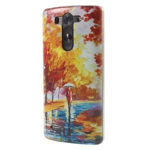Ultra slim 0.6 mm gelový obal LG G3 s - podzimní procházka - 3