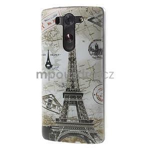 Ultra slim 0.6 mm gelový obal LG G3 s - Eiffelova věž - 3