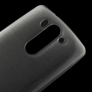 Broušený gelový obal na LG G3 s - šedý - 3
