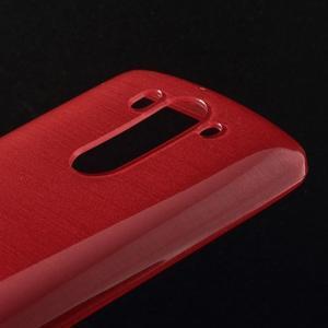 Broušený gelový obal na LG G3 s - červený - 3