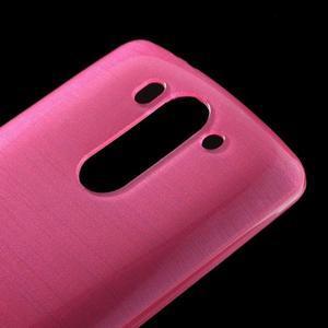 Broušený gelový obal na LG G3 s - rose - 3
