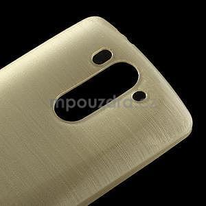Broušený gelový obal na LG G3 s - zlatý - 3