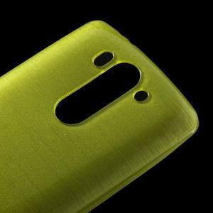 Broušený gelový obal na LG G3 s - zelený - 3