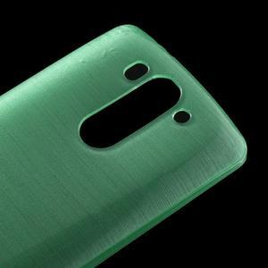 Broušený gelový obal na LG G3 s - azurový - 3