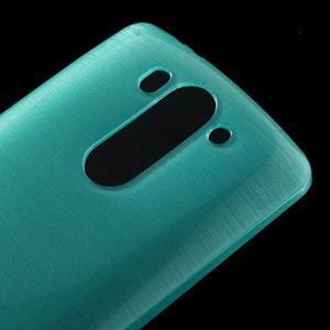 Broušený gelový obal na LG G3 s - tyrkysový - 3