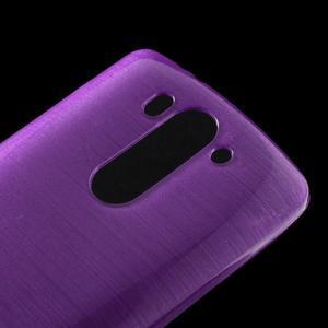 Broušený gelový obal na LG G3 s - fialový - 3