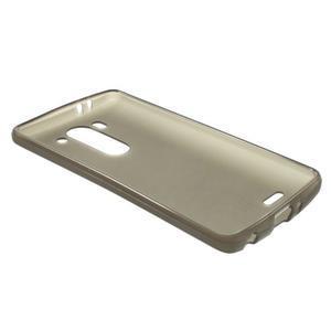 Šedý matný gelový kryt LG G3 s - 3