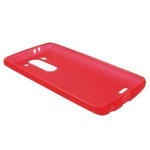Červený matný gelový kryt LG G3 s - 3