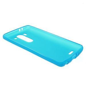 Světle modrý matný gelový kryt LG G3 s - 3