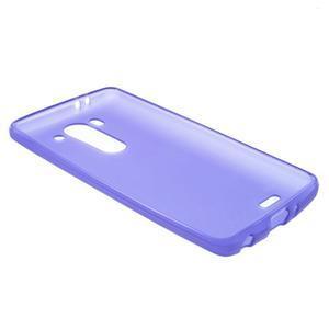 Fialový matný gelový kryt LG G3 s - 3