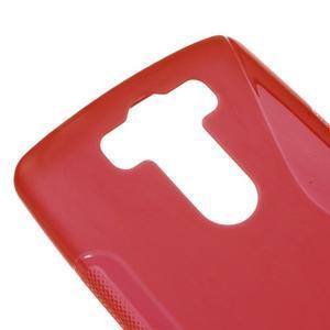 S-line červený gelový obal na LG G3 s - 3