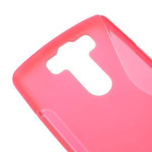 S-line rose gelový obal na LG G3 s - 3