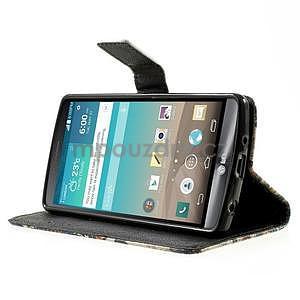 Zapínací peněženkové pouzdro pro LG G3 s - květina mandala - 3