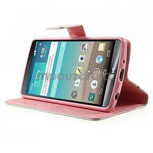 Zapínací peněženkové pouzdro pro LG G3 s - love - 3