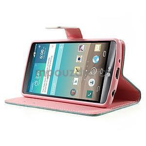 Zapínací peněženkové pouzdro pro LG G3 s - srdce - 3