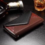 Enlop peněženkové pouzdro na LG G4 - hnědé/černé - 3/7