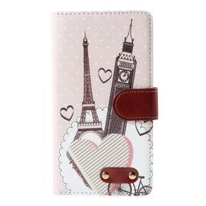 Koženkové pouzdro na mobil LG G4 - Eiffelka a Big Ben - 3