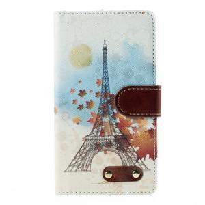 Koženkové pouzdro na mobil LG G4 - Eiffelova věž - 3