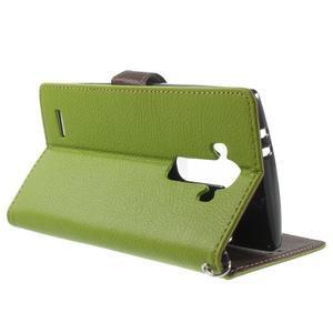 Leaf peněženkové pouzdro na mobil LG G4 - zelené - 3