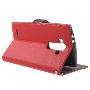 Leaf peněženkové pouzdro na mobil LG G4 - červené - 3