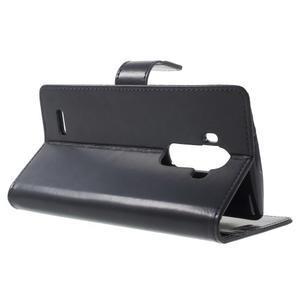 Luxury PU kožené pouzdro na mobil LG G4 - tmavěmodré - 3