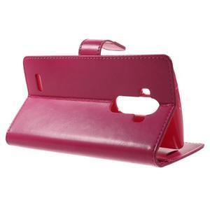 Luxury PU kožené pouzdro na mobil LG G4 - rose - 3