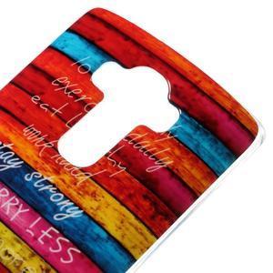 Jells gelový obal na mobil LG G4 - barvy dřeva - 3