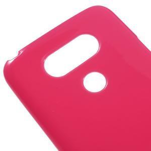 Lesklý gelový obal na mobil LG G5 - rose - 3