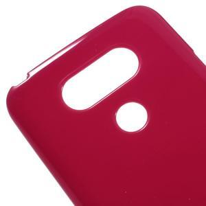 Lesklý gelový obal na mobil LG G5 - červený - 3