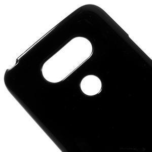 Lesklý gelový obal na mobil LG G5 - černý - 3