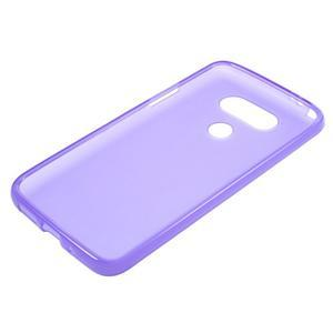 Matný gelový kryt na mobil LG G5 - fialový - 3