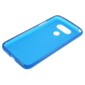 Matný gelový kryt na mobil LG G5 - modrý - 3