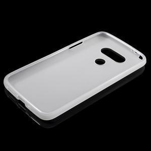 Matný gelový kryt na mobil LG G5 - bílý - 3