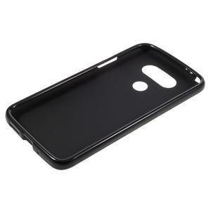 Matný gelový kryt na mobil LG G5 - černý - 3