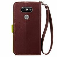Leaf PU kožené pouzdro na LG G5 - hnědé - 3/7