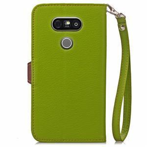 Leaf PU kožené pouzdro na LG G5 - zelené - 3
