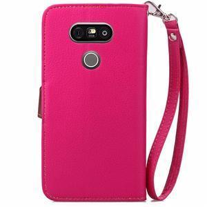 Leaf PU kožené pouzdro na LG G5 - rose - 3