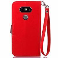 Leaf PU kožené pouzdro na LG G5 - červené - 3/7