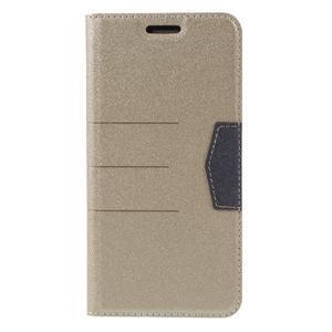 Klopové peneženkové pouzdro na LG G5 - zlaté - 3