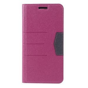 Klopové peneženko pouzdro na LG G5 - rose - 3