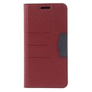 Klopové peneženkové pouzdro na LG G5 - červené - 3