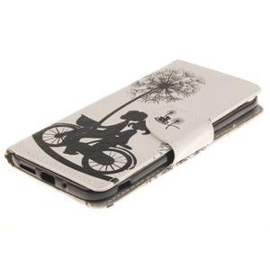 Obrázkové koženkové pouzdro na LG G5 - láska na kole - 3
