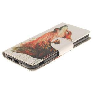 Obrázkové koženkové pouzdro na LG G5 - vlk - 3